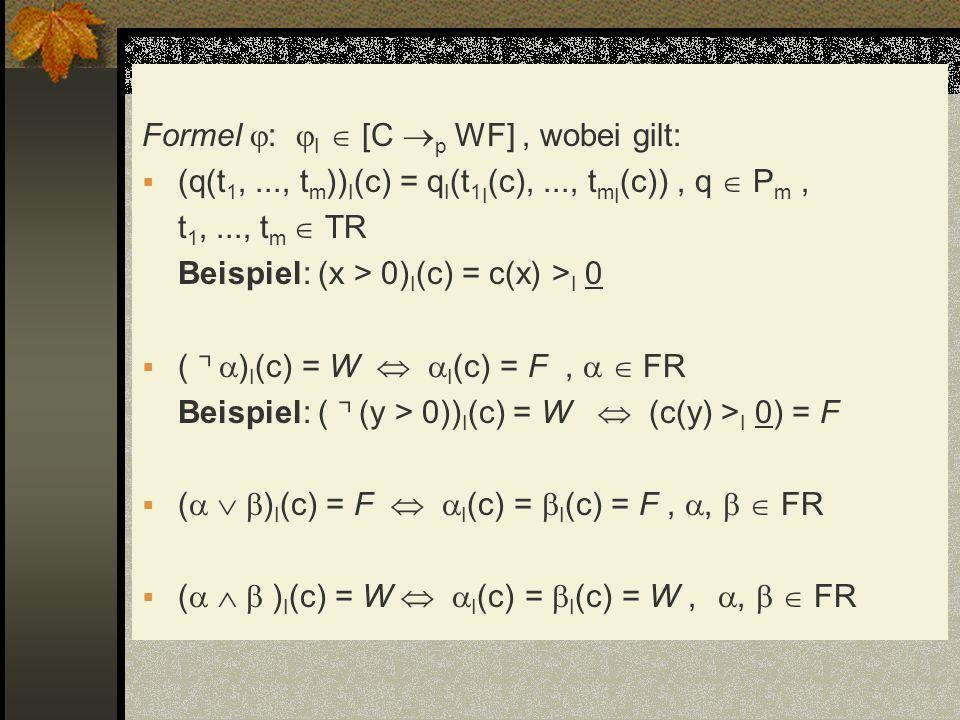 Formel : I  [C p WF] , wobei gilt:
